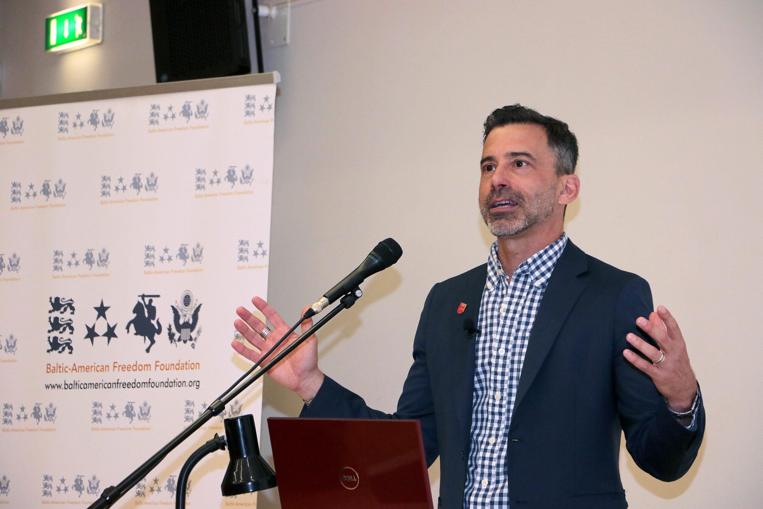 Michael C. LaSala in Tallinn University, 2018